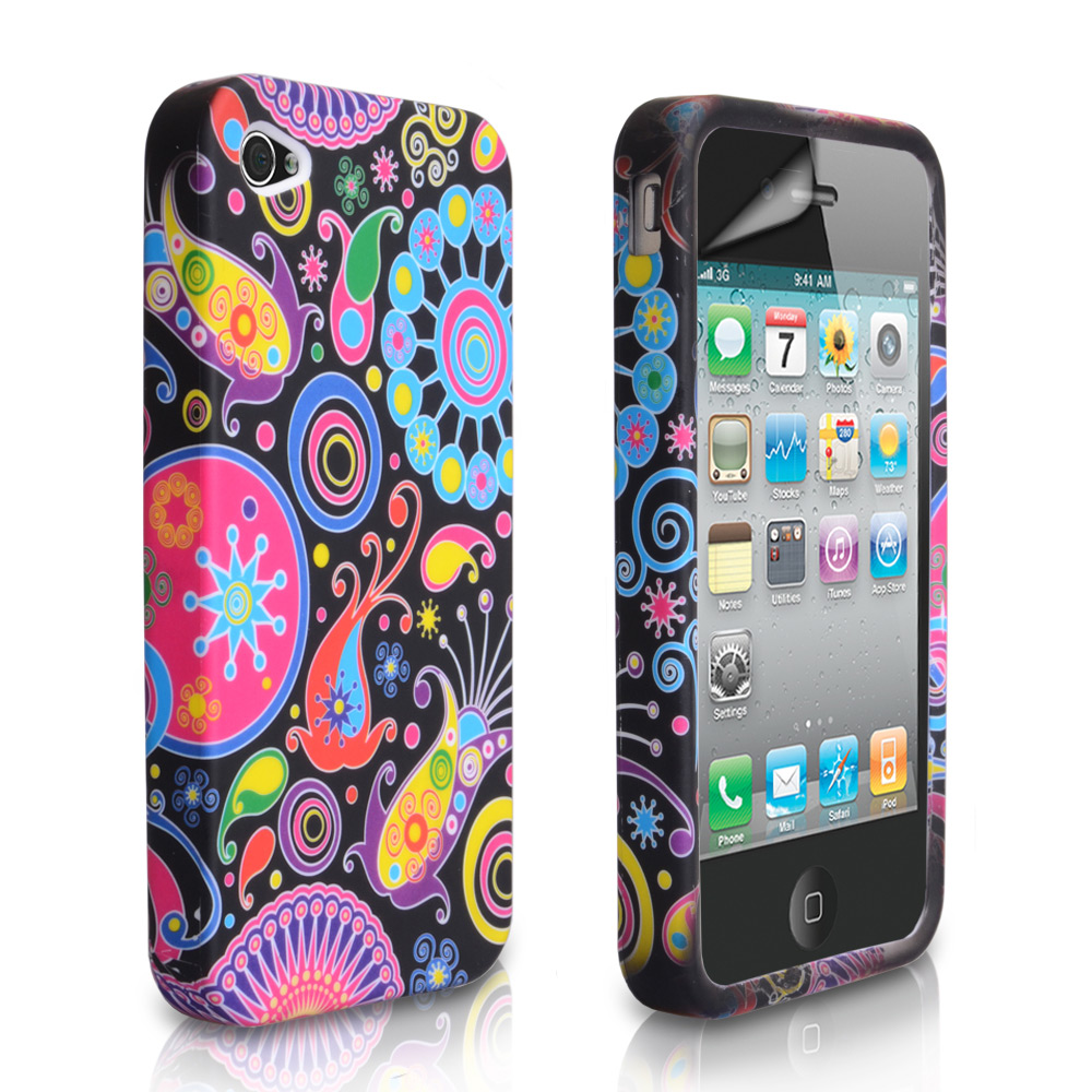 YouSave Accessories iPhone 4 / 4S Jellyfish Silicone Gel Case