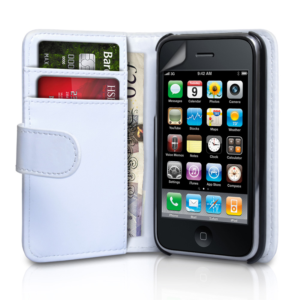 YouSave Accessories iPhone 3G / 3GS Leather Effect Wallet Case - White