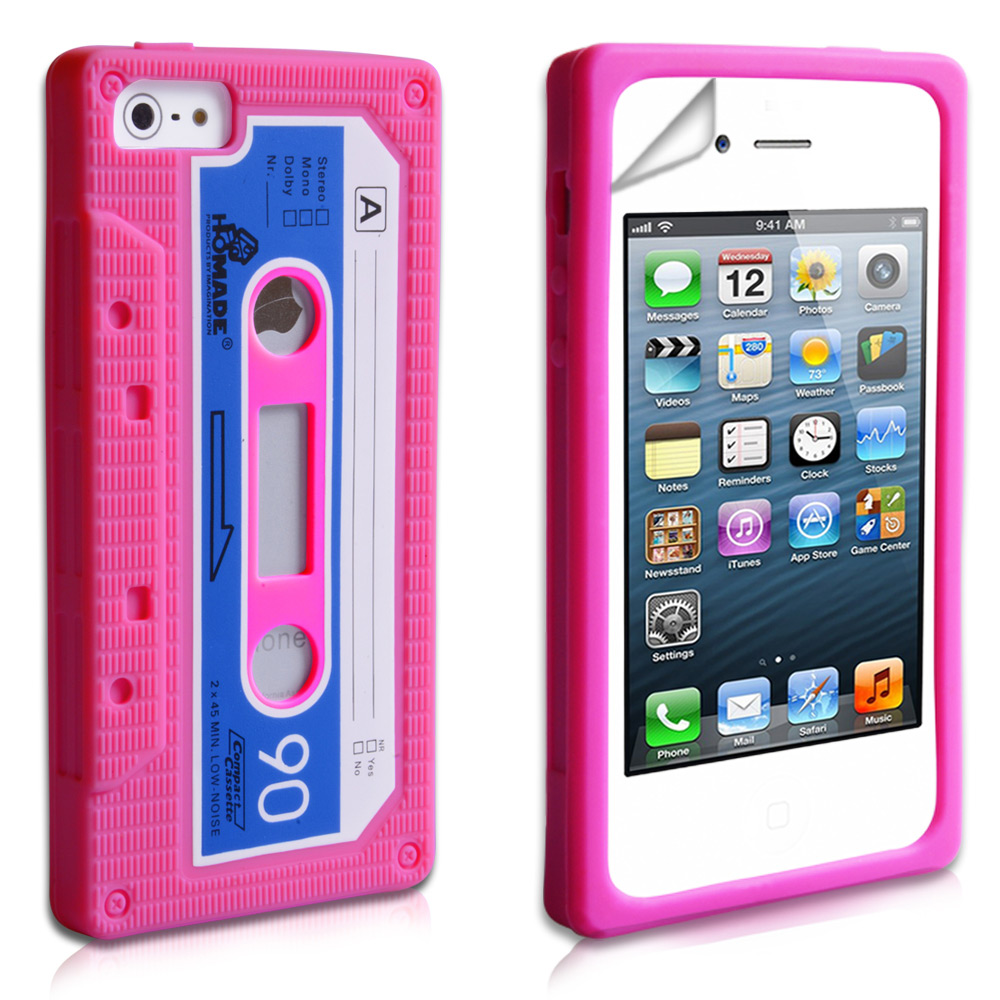 YouSave Accessories iPhone 5 / 5S Retro Cassette Case - Hot Pink