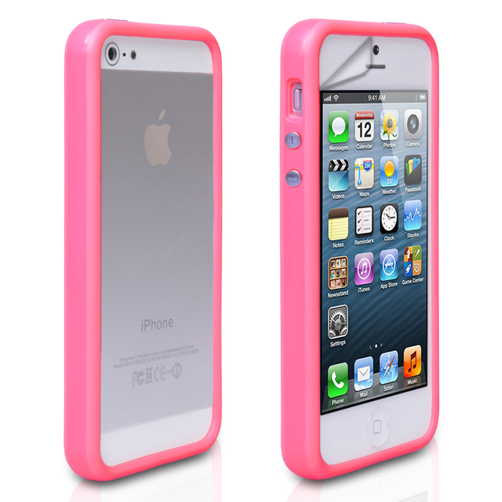 YouSave Accessories iPhone 5 / 5S Hot Pink Bumper Case