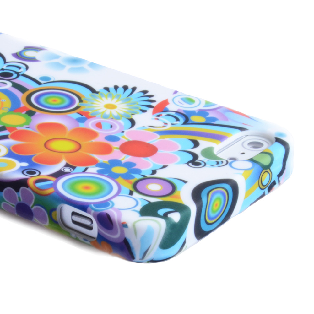 YouSave Accessories iPhone 5 / 5S Rainbow Floral Gel Case