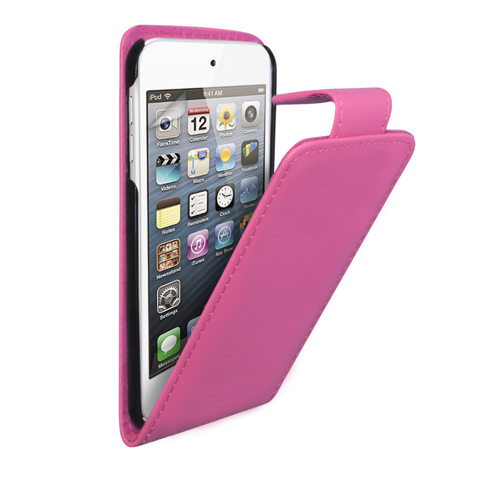 YouSave Accessories iPod Touch 5G Hot Pink Leather Effect Flip Case