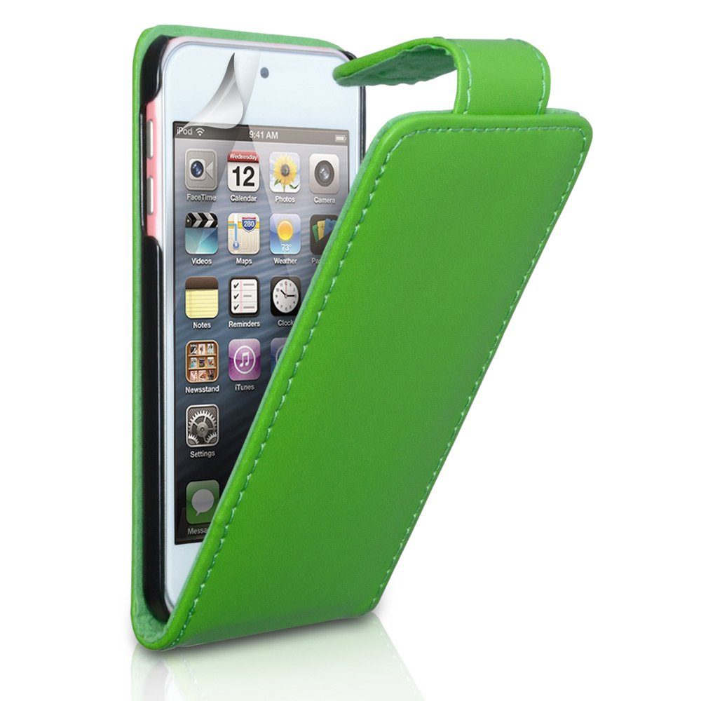 YouSave Accessories iPod Touch 5G Green Leather Effect Flip Case