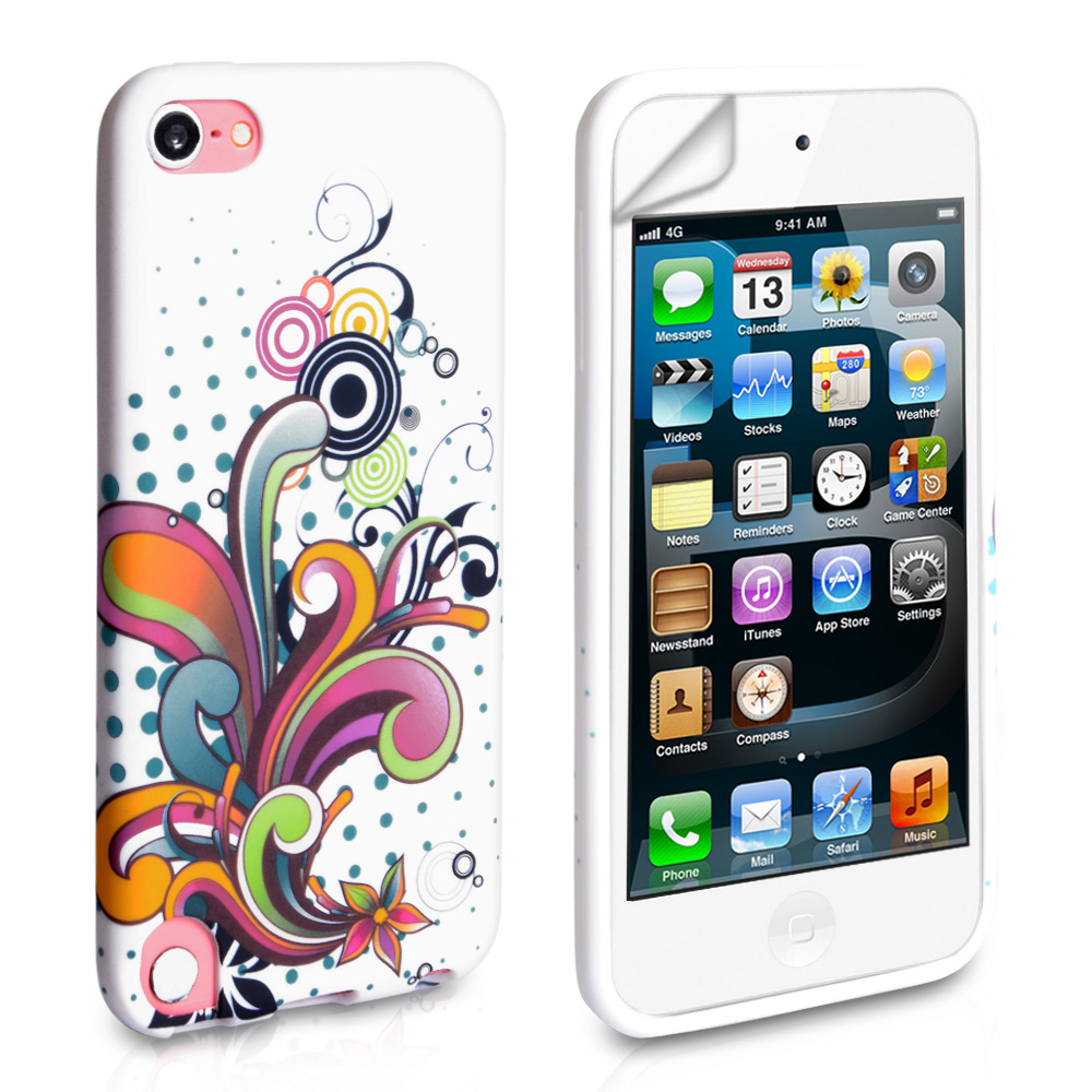 YouSave Accessories iPod Touch 5G Multicoloured Floral Swirl Gel Case