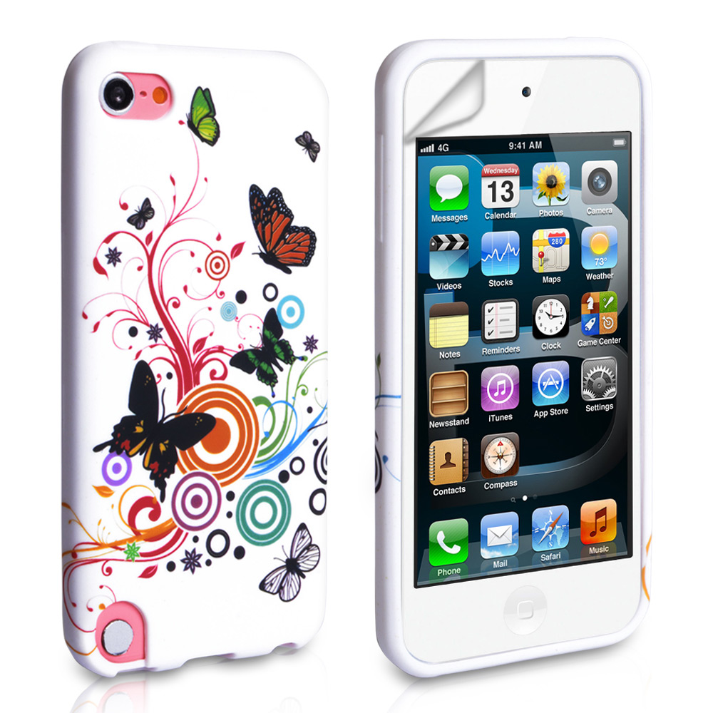 YouSave iPod Touch 5G Multicoloured Floral Butterfly Swirl Gel Case