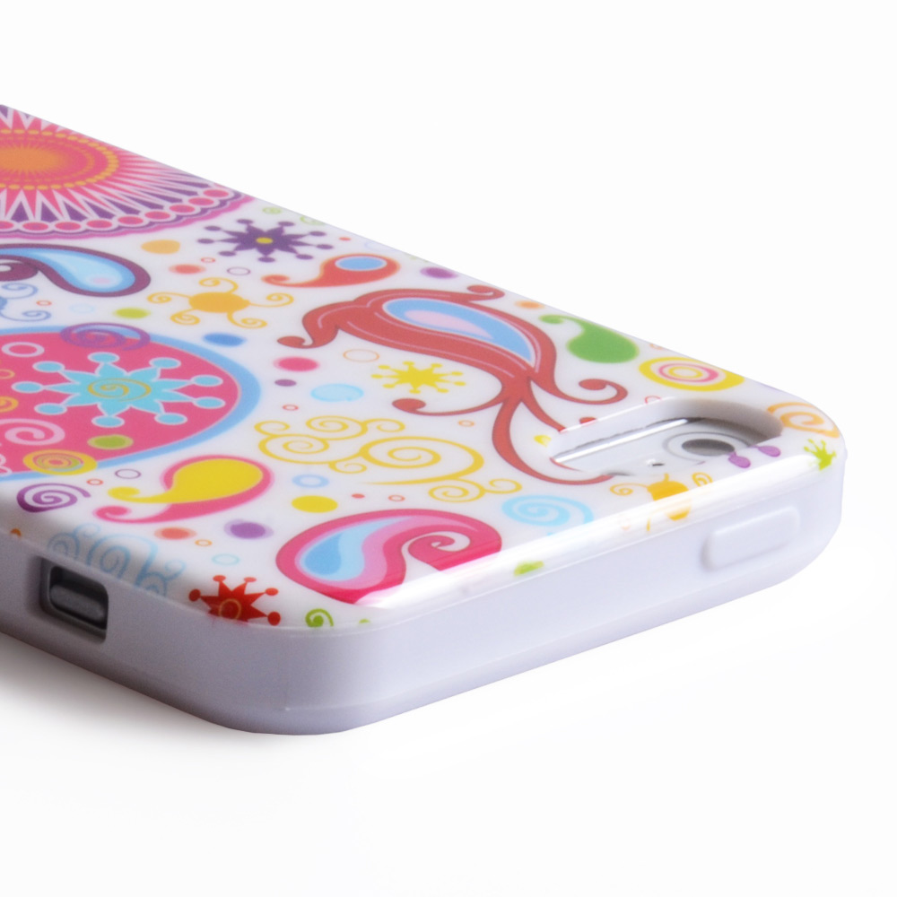 YouSave Accessories iPhone 5-5S White Jellyfish Gel Case
