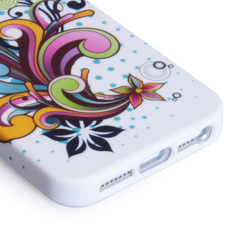 YouSave Accessories iPhone 5 / 5S Floral Swirl Gel Case