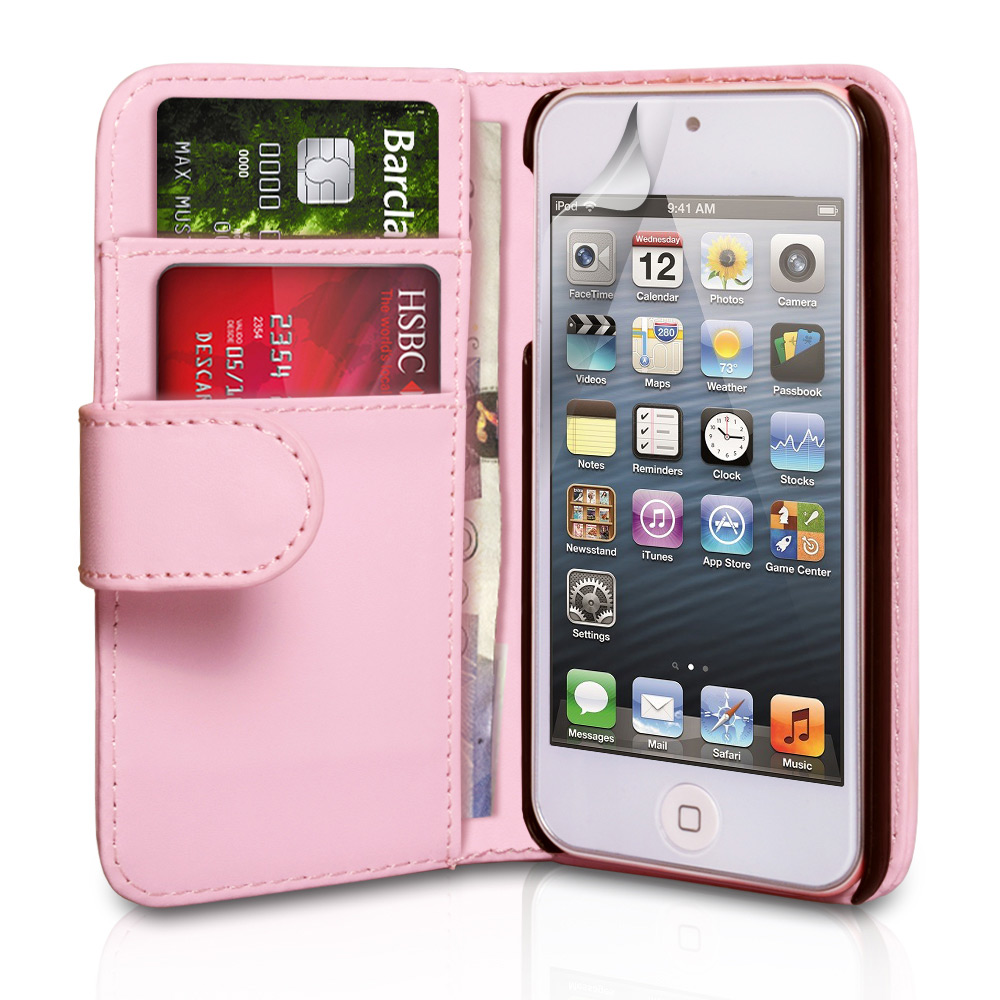 YouSave Accessories iPod Touch 5G Baby Pink Leather Effect Wallet Case