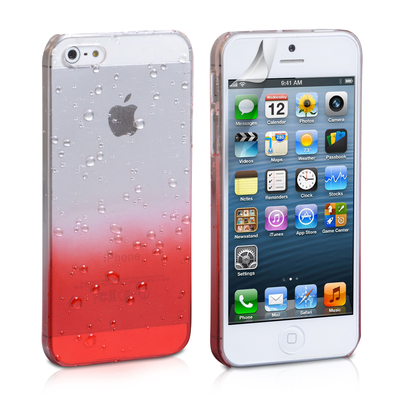YouSave Accessories iPhone 5 / 5S Red Raindrop Hard Case