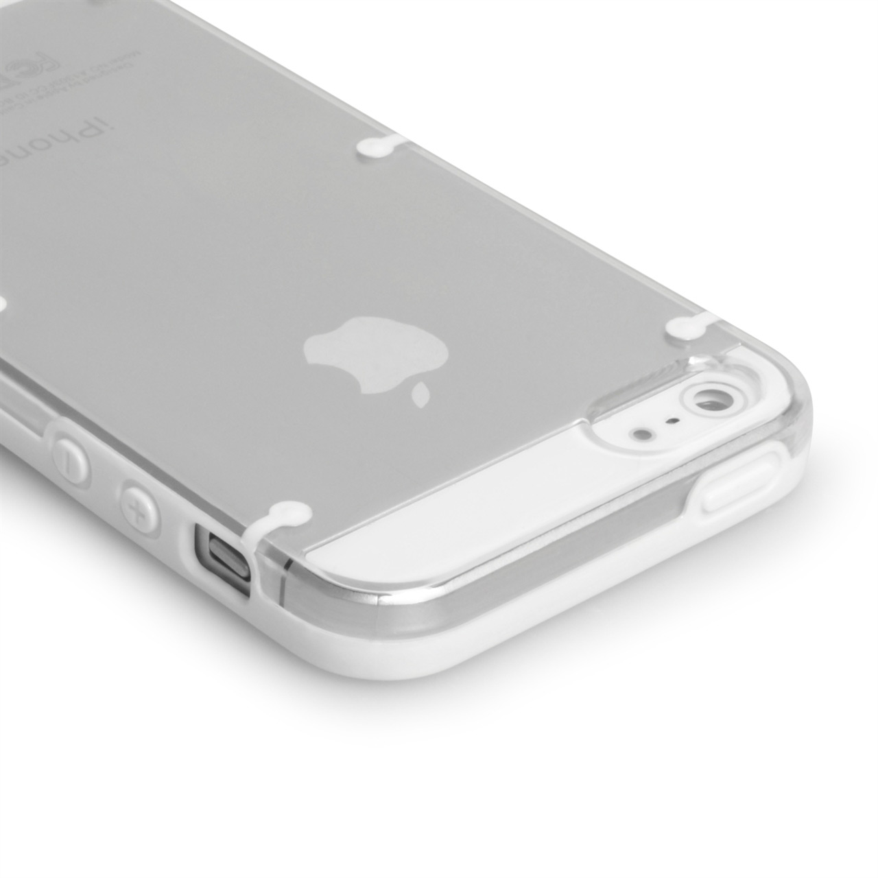 YouSave Accessories iPhone 5 / 5S Hard Case - White and Clear