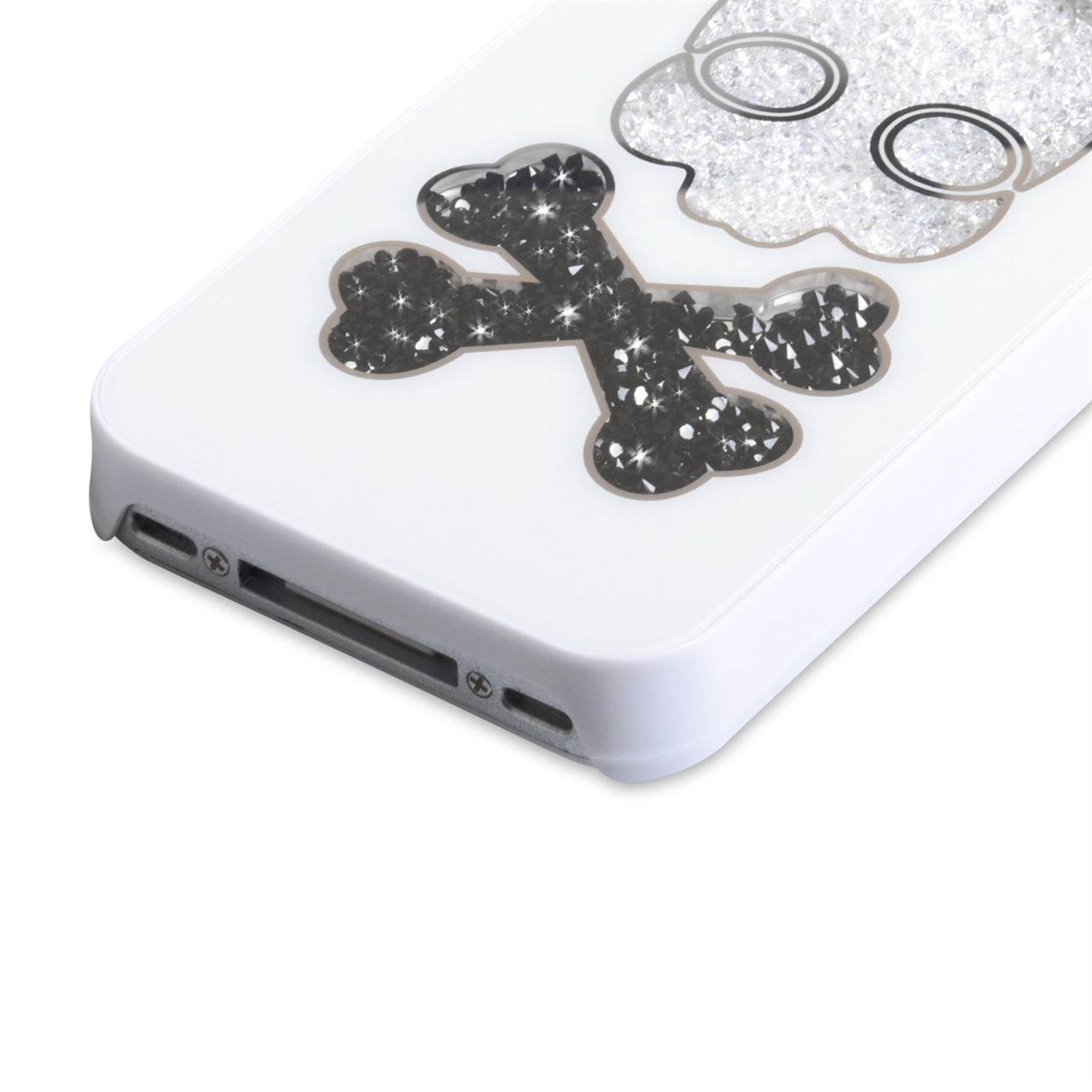 YouSave Accessories iPhone 4 / 4S Skull Hard Case - White