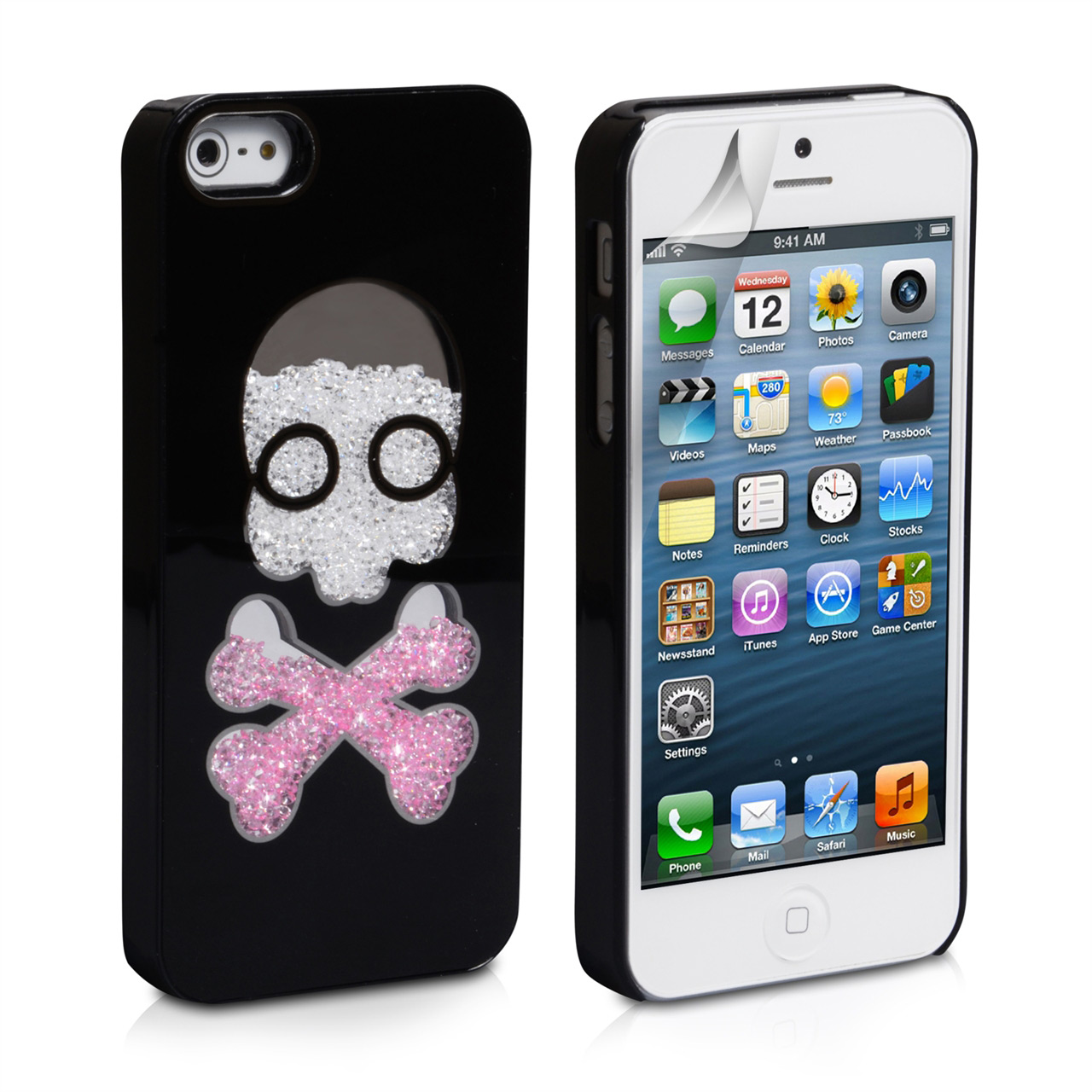 YouSave Accessories iPhone 5 / 5S Skull Hard Case - Black