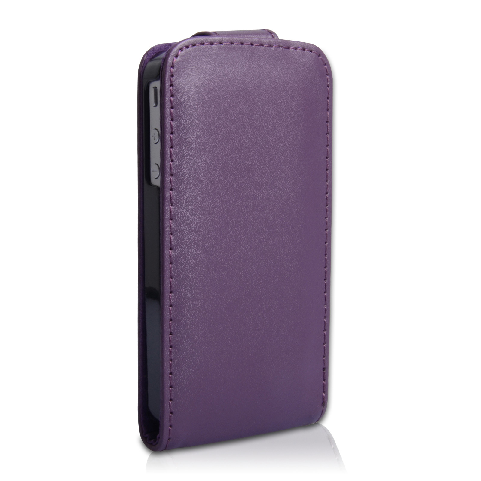 YouSave Accessories iPhone 4 / 4S Leather Effect Flip Case - Purple