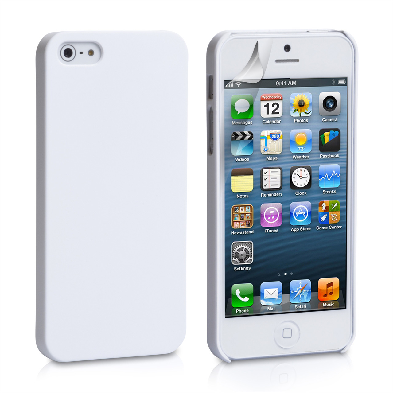 YouSave Accessories iPhone 5 / 5S Hard Hybrid Case - White