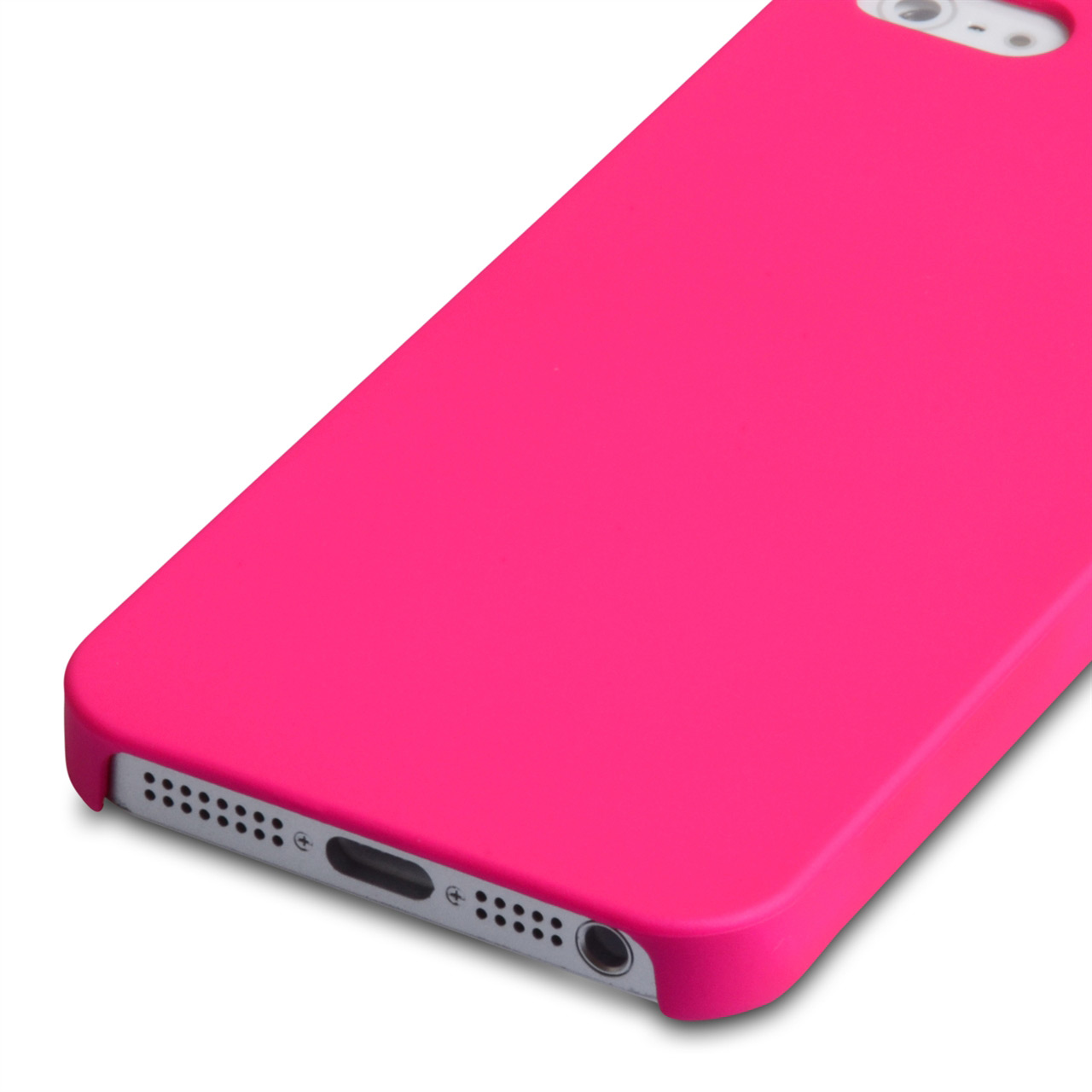 YouSave Accessories iPhone 5 / 5S Hard Hybrid Case - Hot Pink