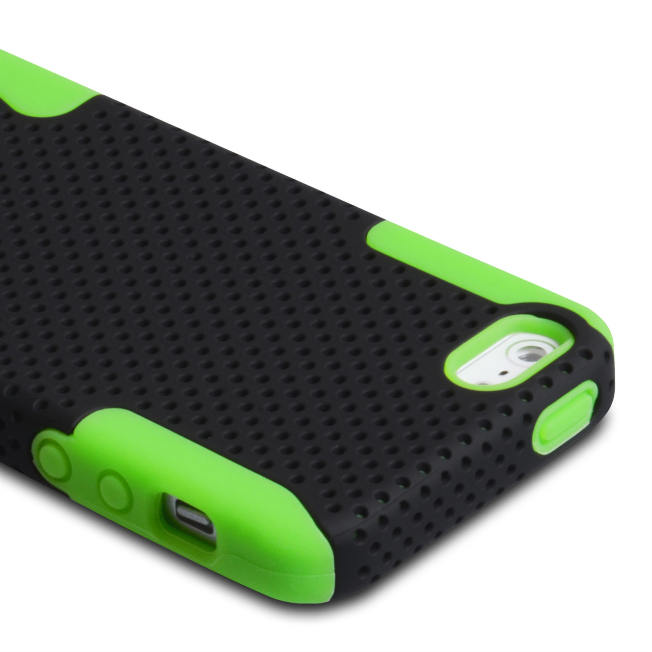 YouSave Accessories iPhone 5 / 5S Green Mesh Combo Case