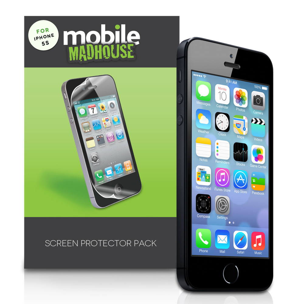 YouSave Accessories iPhone 5 / 5S Mobile Madhouse Screen Protectors x3