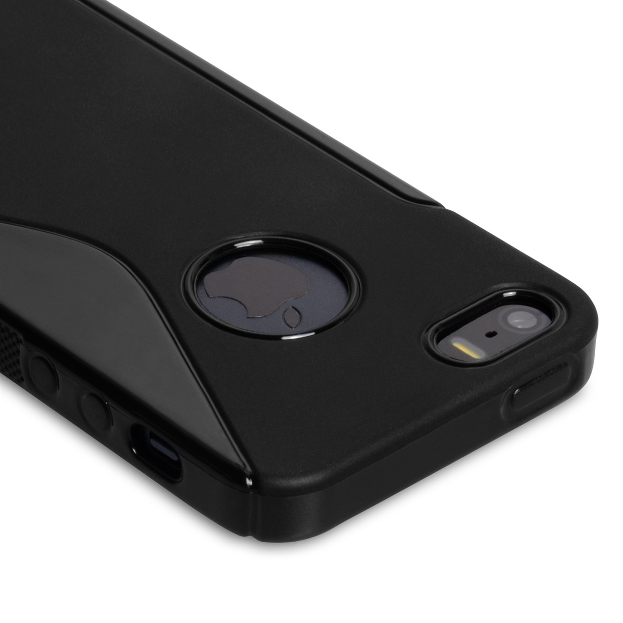 Caseflex iPhone 5-5S S-Line Gel Case - Black
