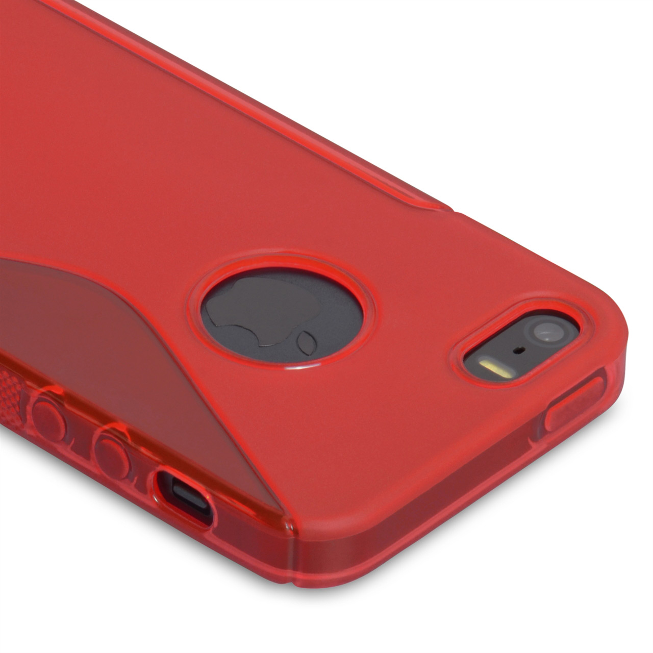 Caseflex iPhone 5 / 5S S-Line Gel Case - Red