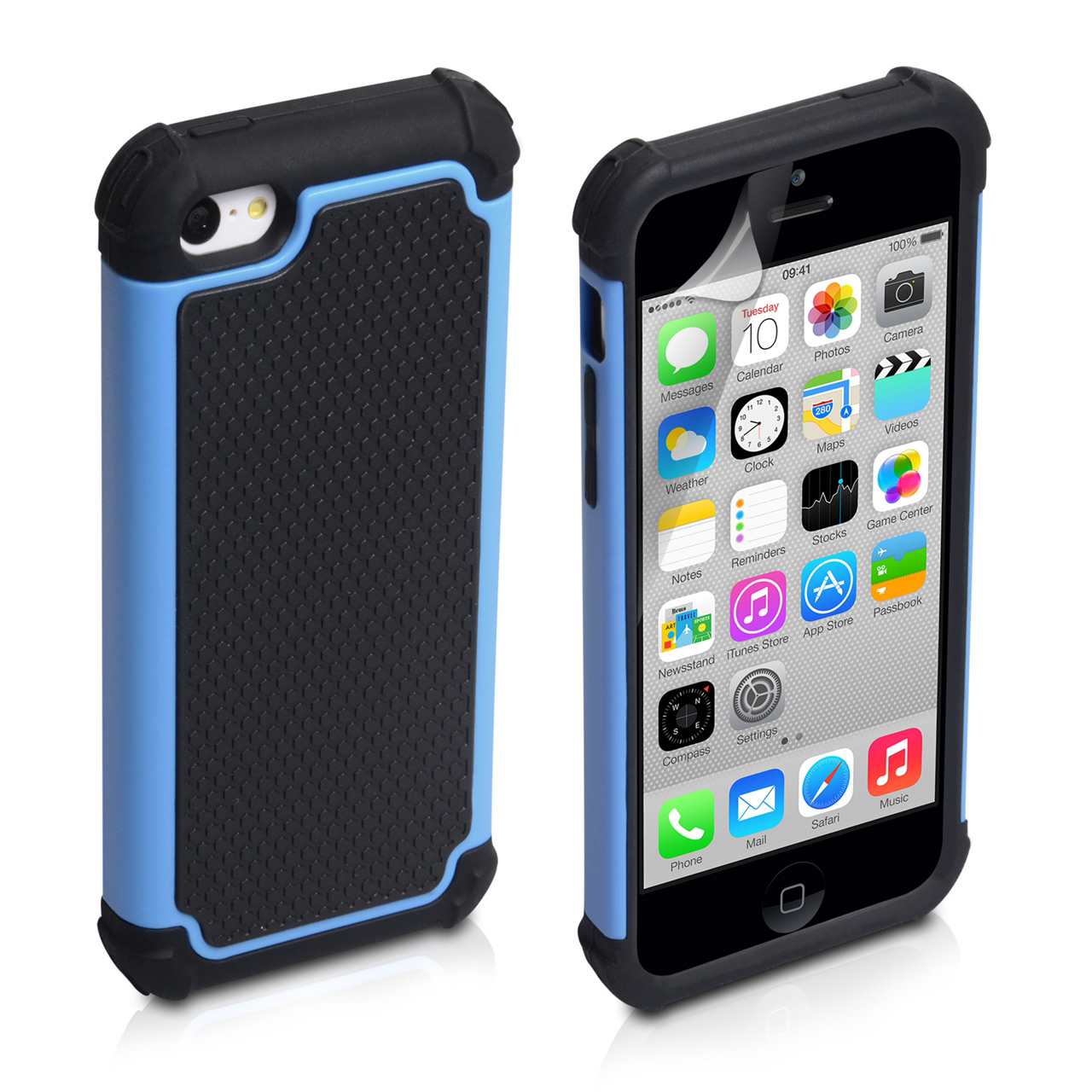 YouSave Accessories iPhone 5C Grip Combo Case - Blue