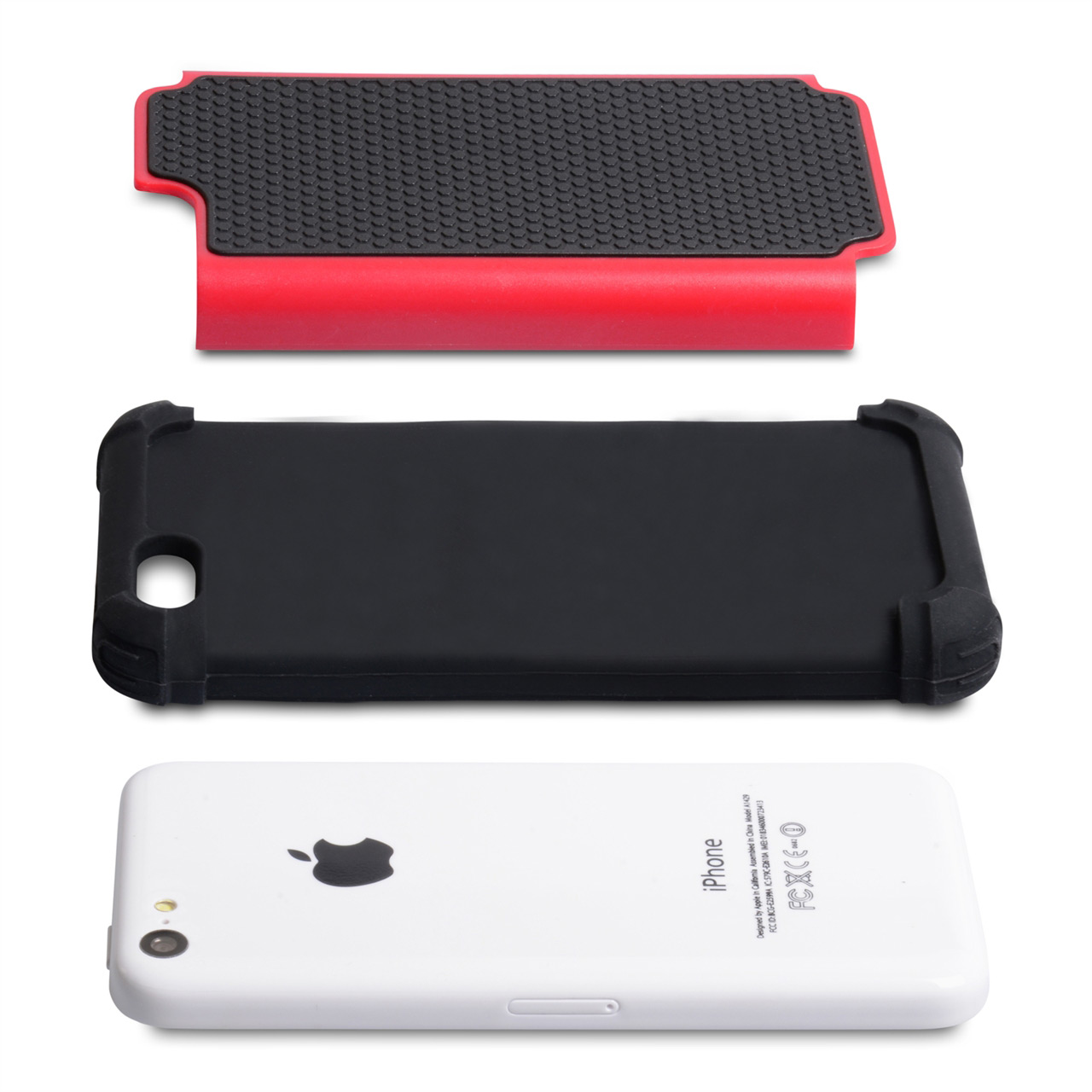 YouSave Accessories iPhone 5C Grip Combo Case - Red