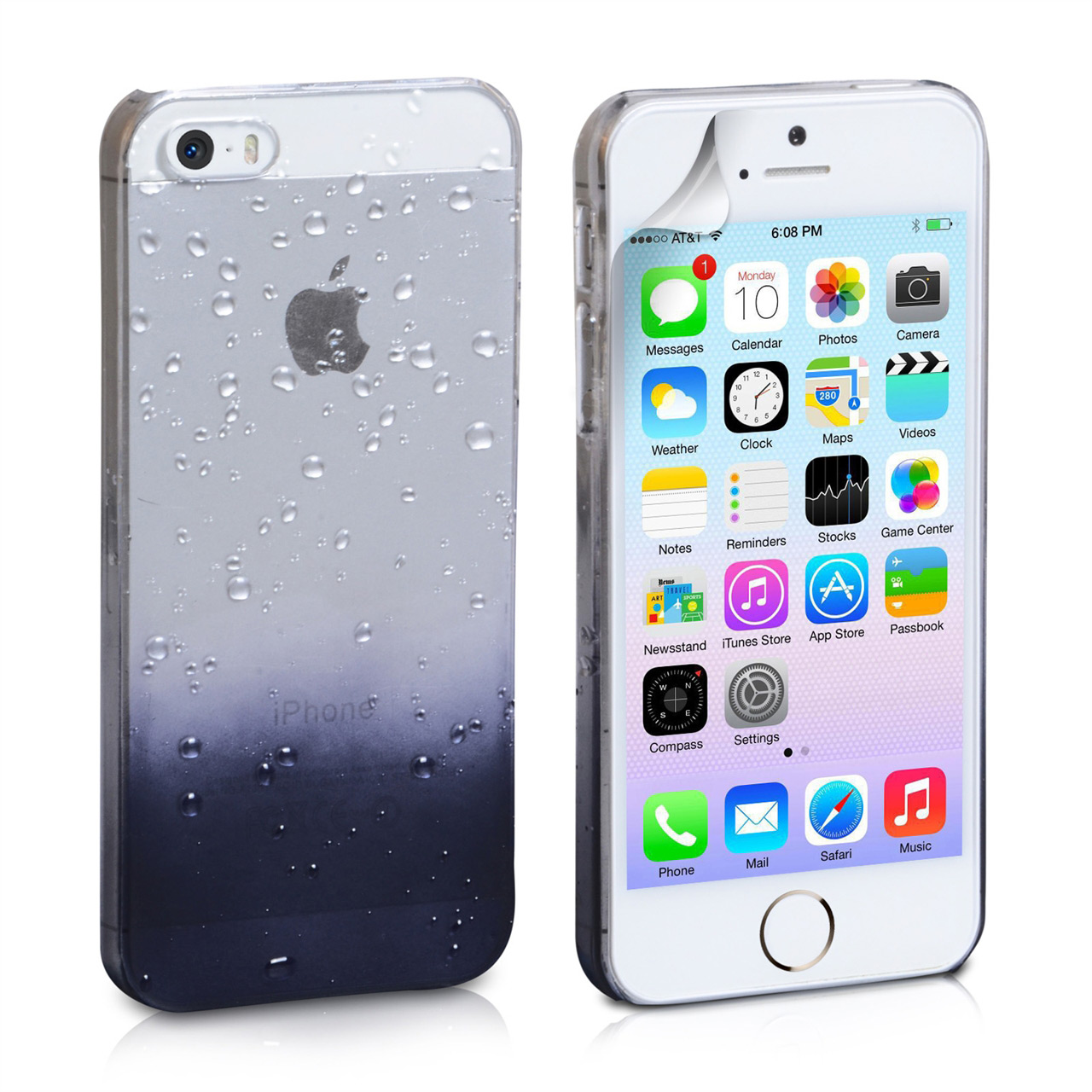 YouSave Accessories iPhone 5 / 5S Black Raindrop Hard Case