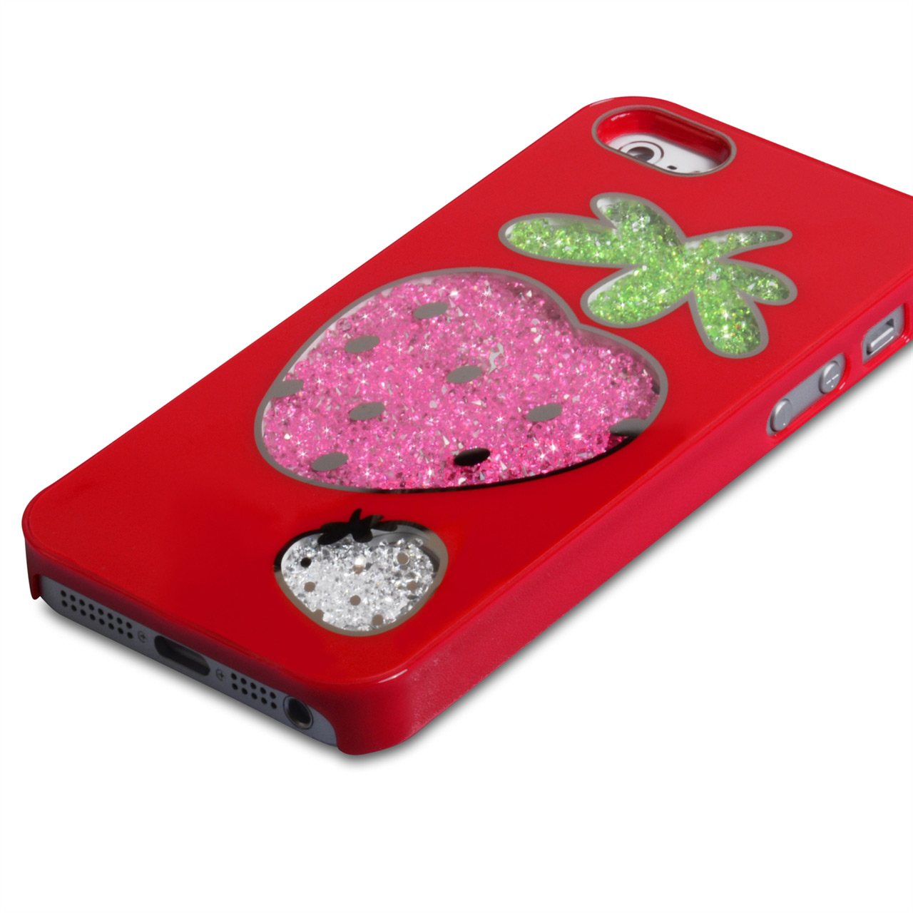 YouSave Accessories iPhone 5 / 5S Strawberry Bling Hard Case - Red