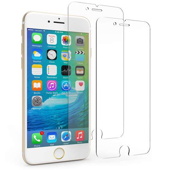 iPhone 6 / 6S Tempered Glass Screen Protector (Twin Pack)