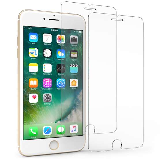 iPhone 7 Plus Tempered Glass Screen Protector - Twin Pack