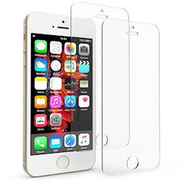 iPhone 5 / 5S / SE Tempered Glass Screen Protector - Twin Pack