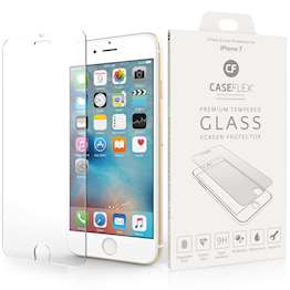 Caseflex iPhone 7 Glass Screen Protector - Twin Pack