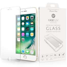 Caseflex iPhone 7 Plus Glass Screen Protector - Twin Pack