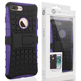 Caseflex iPhone 7 Plus Kickstand Combo Case - Purple (Retail Box)