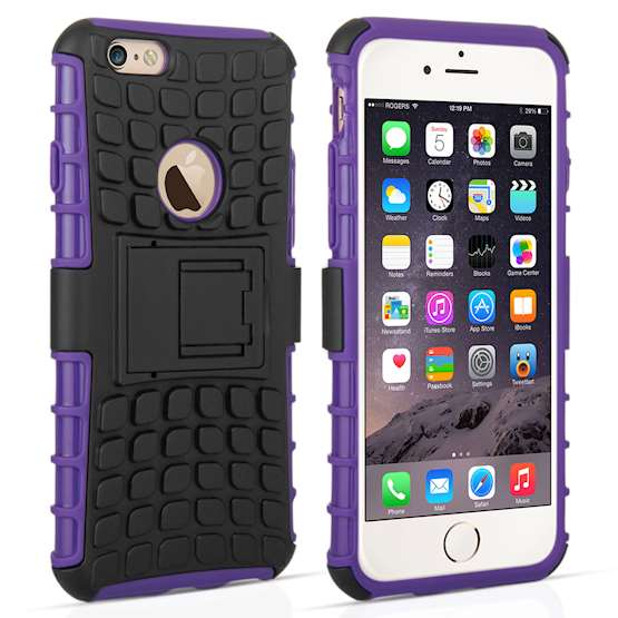 Caseflex iPhone 6 / 6s Kickstand Combo Case - Purple