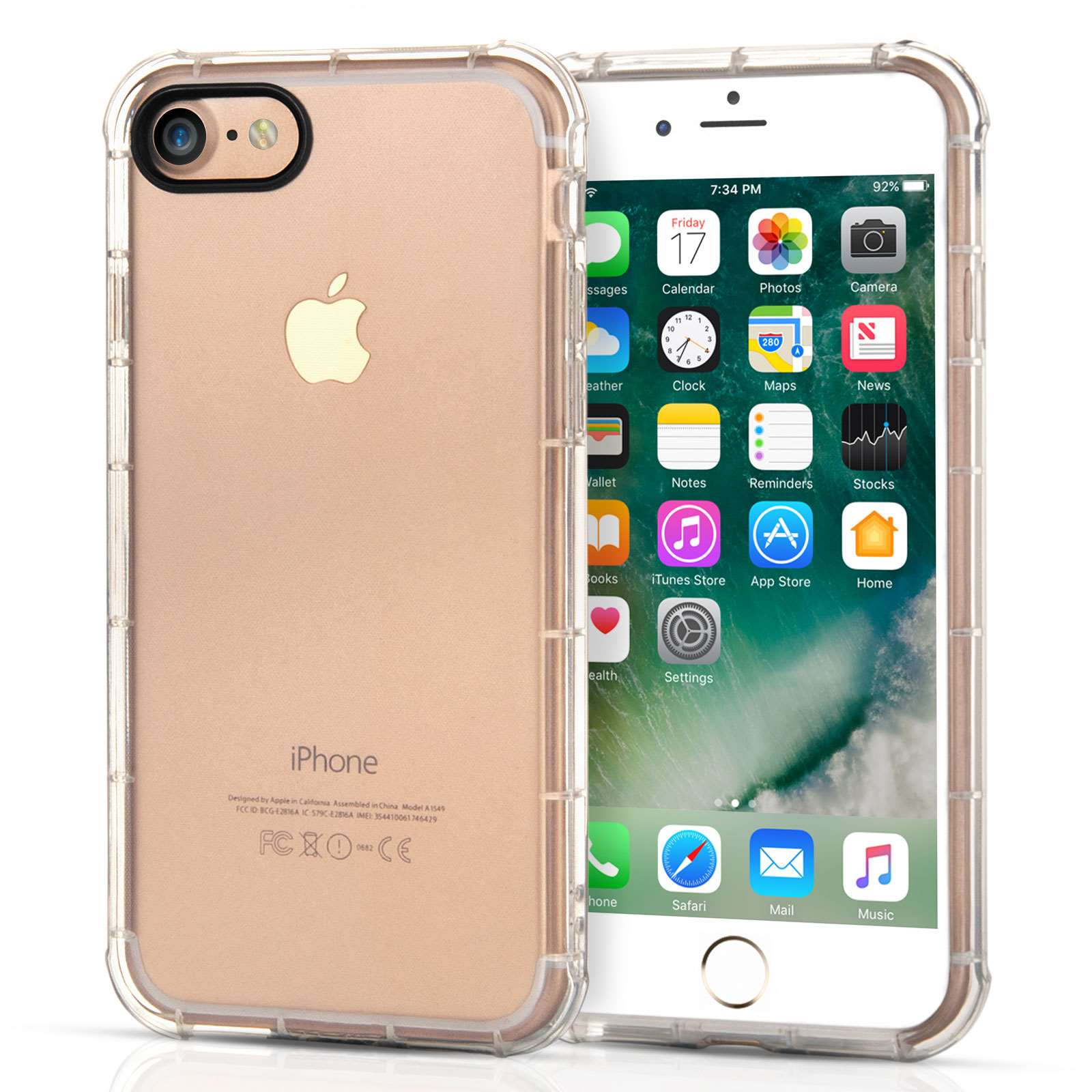 caseflex iphone 7 tpu gel clear case mobile madhouse. Black Bedroom Furniture Sets. Home Design Ideas