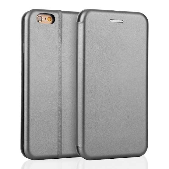 YouSave iPhone 6 / 6S Leather-Effect Stand Wallet with Felt Lining - Grey