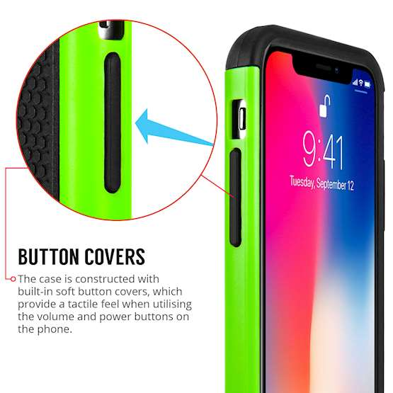 Caseflex iPhone X Mesh Combo - Green