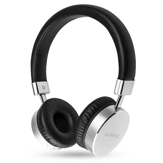 Audiance Premium M1-BT Bluetooth Headphones - Silver-Black