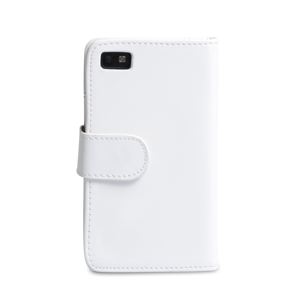 YouSave Accessories Blackberry Z10 Leather-Effect Wallet Case - White