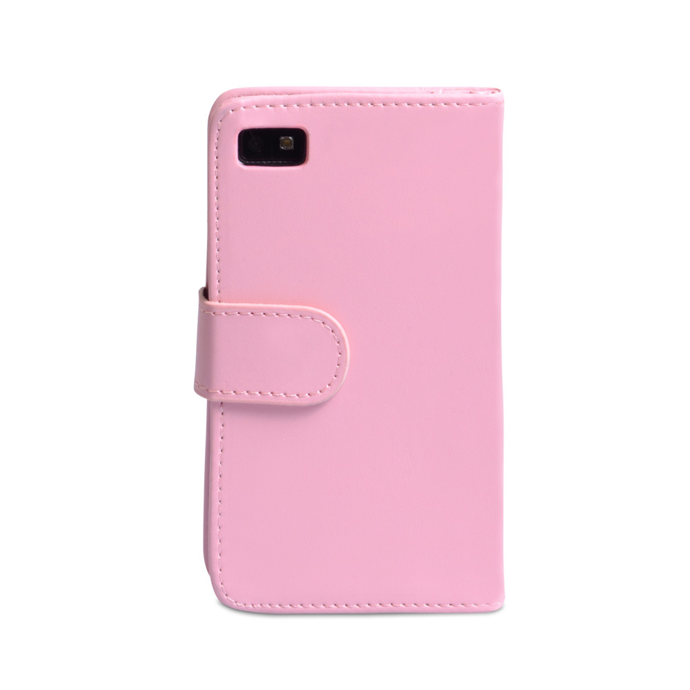 YouSave Blackberry Z10 Leather-Effect Flip Case - Baby Pink