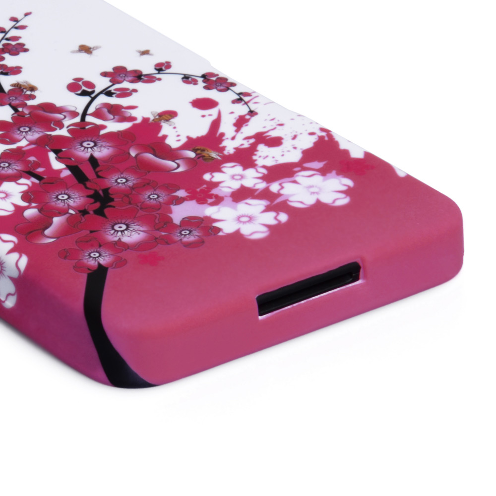 YouSave Accessories Blackberry Z10 Floral Bee Silicone Gel Case