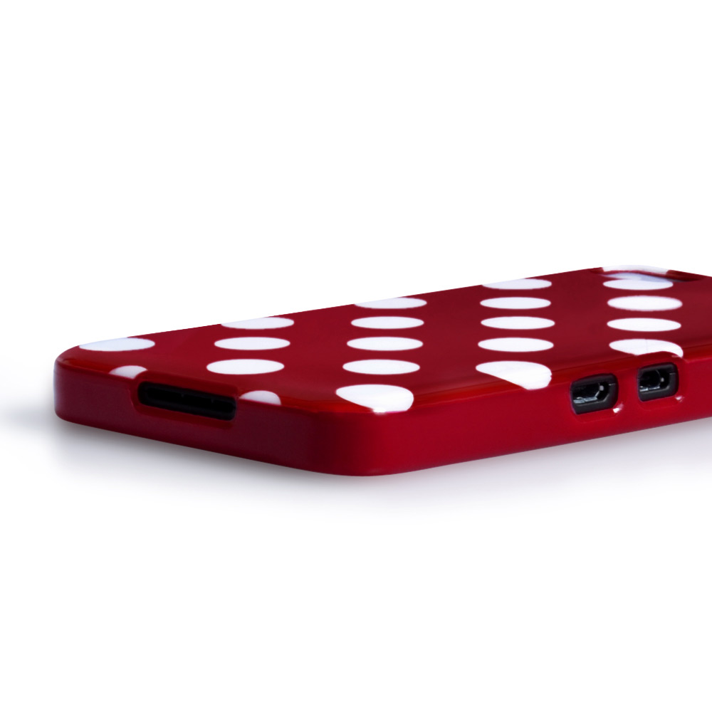 YouSave Accessories Blackberry Z10 Polka Dot Gel Case - Red
