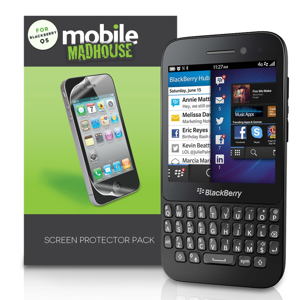 YouSave Accessories Blackberry Q5 Screen Protectors x3