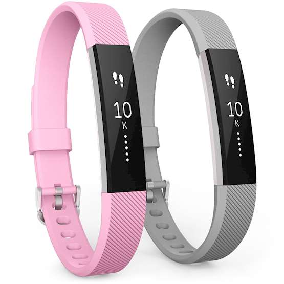 Fitbit Alta Strap 2-Pack (Large) - Blush Pink / Grey