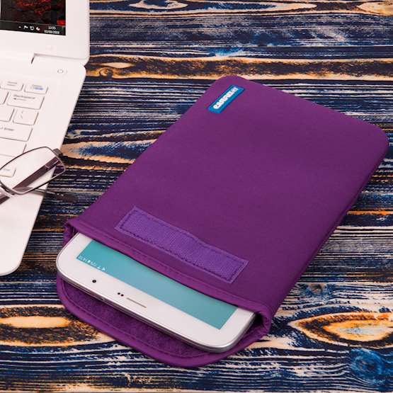 Caseflex 7 Inch Purple Neoprene Tablet Pouch (S)