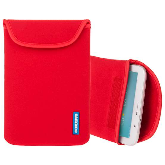 Caseflex 10 Inch Red Neoprene Tablet Pouch (M)