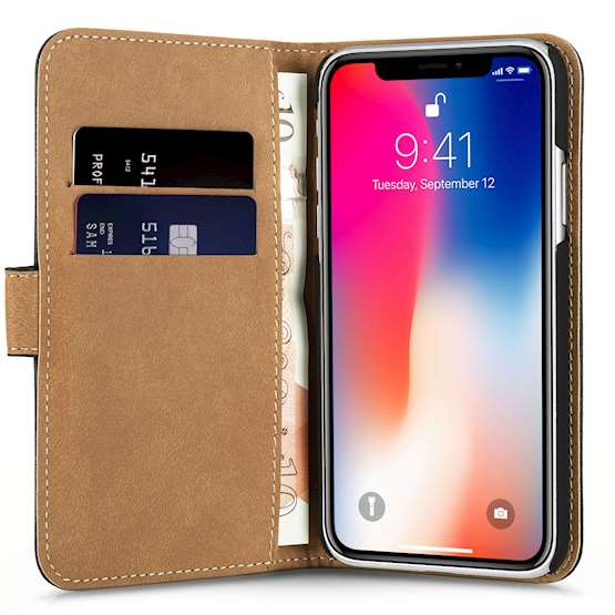 iPhone X Real Leather Wallet