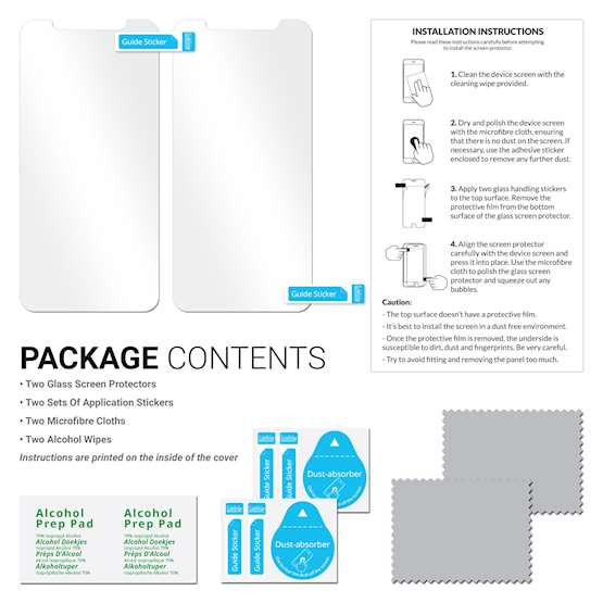 iPhone X Glass Screen Protector - Twin Pack