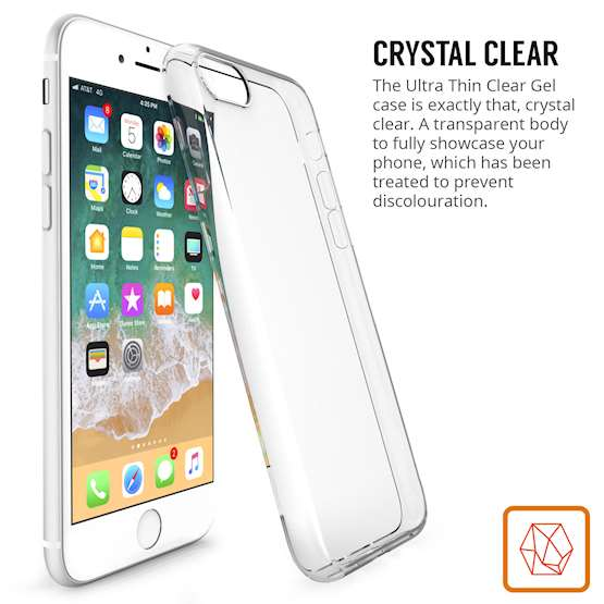 Yousave iPhone 8 Case,  Scratch Resistant - Ultra Slim & Lightweight - NO Bulkiness - TPU Gel with Inner Dots Soft Thin Silicone Back Cover - Clear