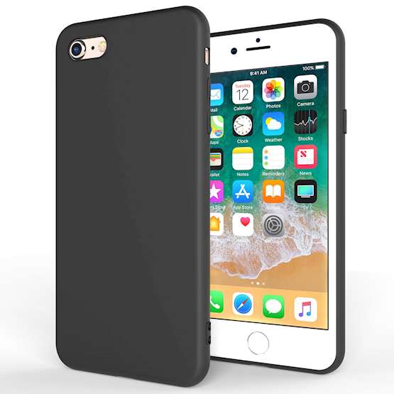 iPhone 8 Case,  Scratch Resistant - Matte Finish  - Lightweight & NO Bulkiness - TPU Gel Soft Thin Silicone Back Cover - Matte Black